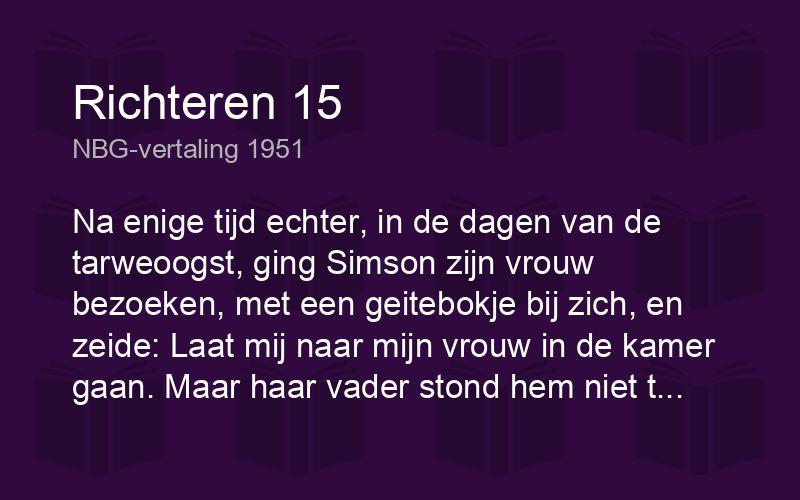 richteren 15 nbg51 nbg vertaling 1951 biblics